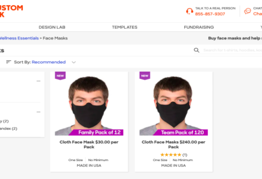 Custom Ink Face Mask Product Reviews