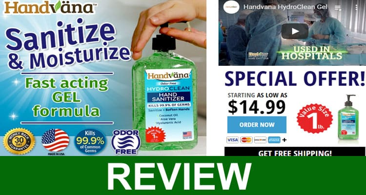 Handvana Hand Sanitizer Gel Reviews