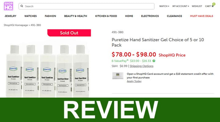 Shophq Hand Sanitizer Reviews 2020