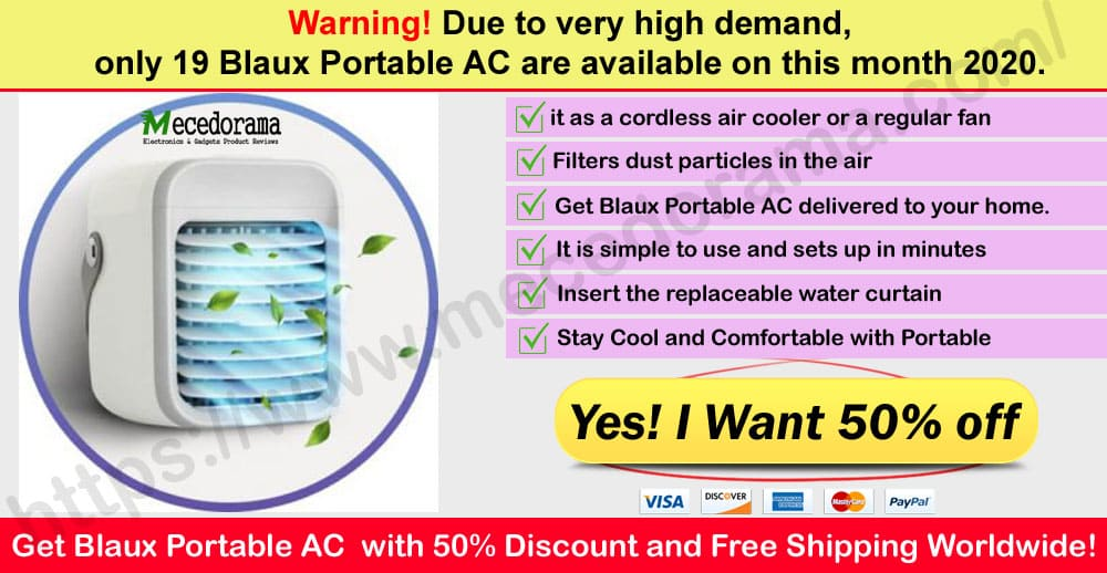 Blaux Portable AC Where to Buy on mece