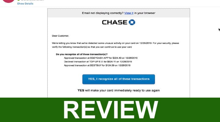 Chase Alert Text Scam 2020