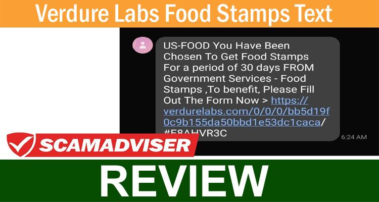 Verdure Labs Food Stamps Text