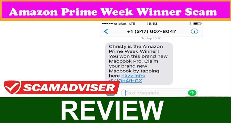 Amazon Prime Week Winner Scam 2020