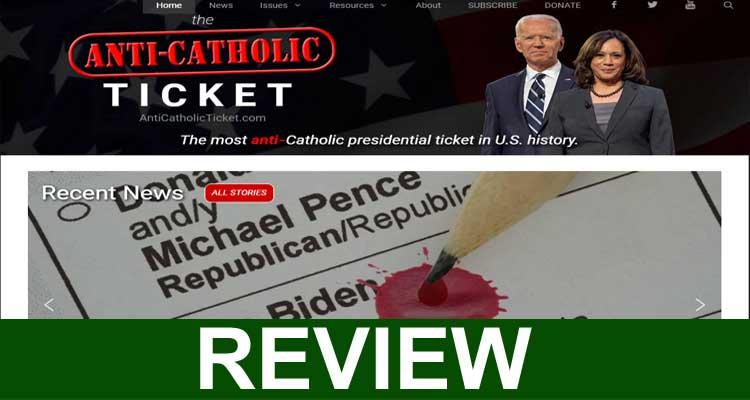 Anti Catholic Ticket Com 2020