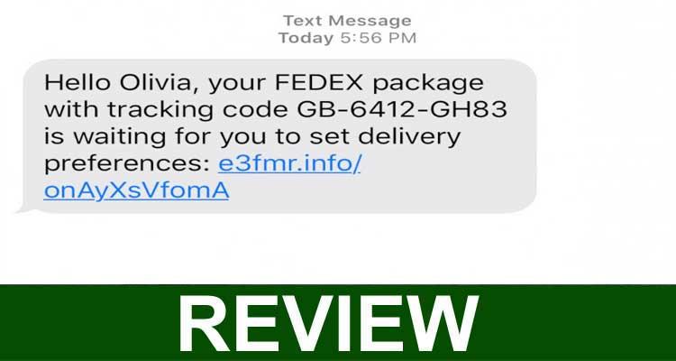 Fedex Parcel Text Scam 2020