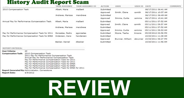 History Audit Report Scam 2020