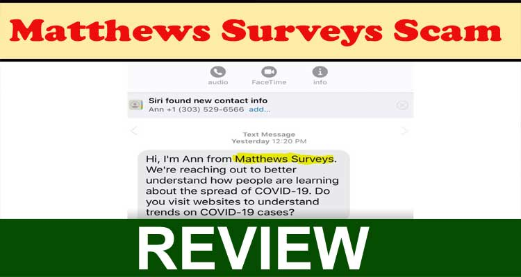 Matthews Surveys Scam 2020