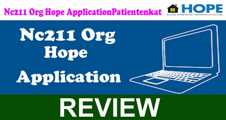 Nc211 Org Hope Application 2020