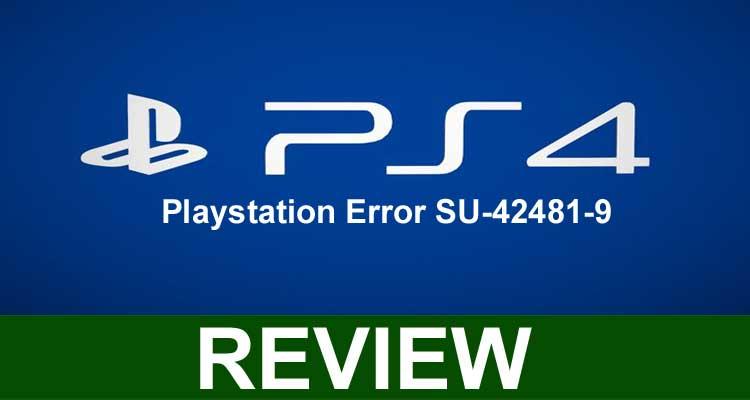Playstation Error SU-42481-9 2020