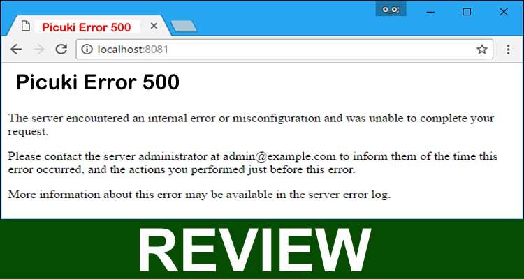 Picuki Error 500 2020.