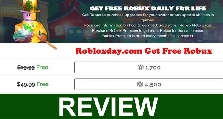 Robloxday.com Get Free Robux 2020