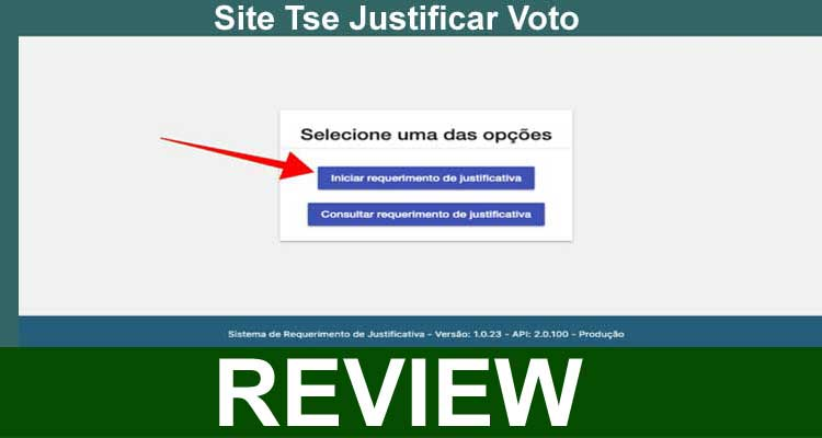 Site Tse Justificar Voto 2020