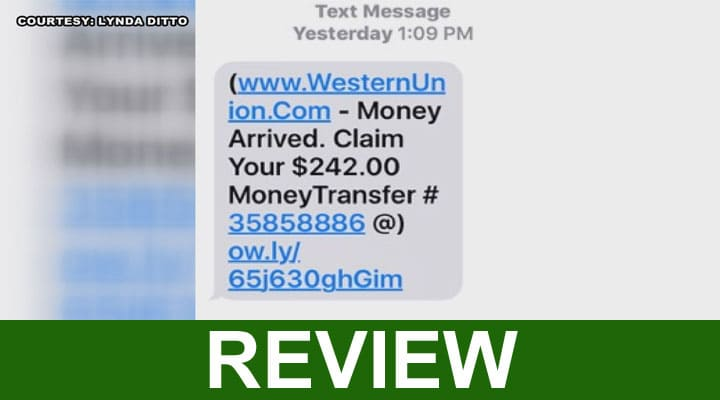 Western Union Text Scam 2020