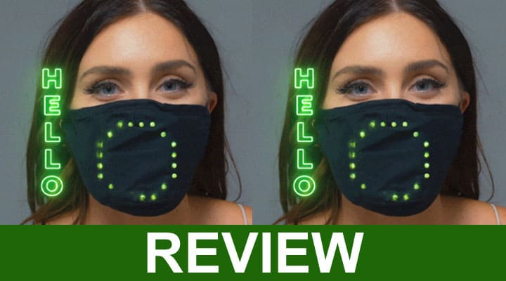 Face Mask Voice Activated Led Smart Mask 2020