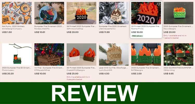 Light up Dumpster Fire Ornament 2020