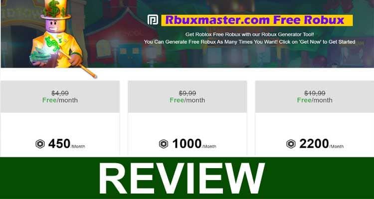 Rbuxmaster.com Free Robux 2020