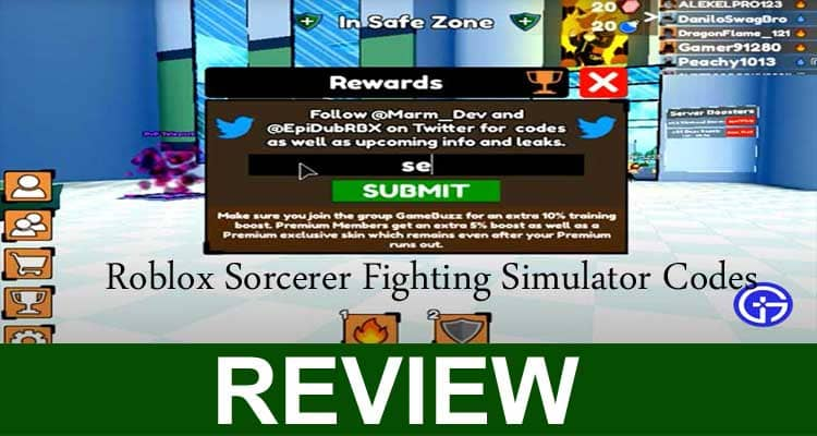 Roblox Sorcerer Fighting Simulator Codes 2020