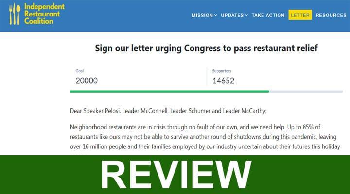 Saverestaurants Com Letter 2020