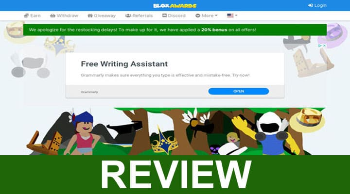 bloxawards.com Earn Free Robux 2020