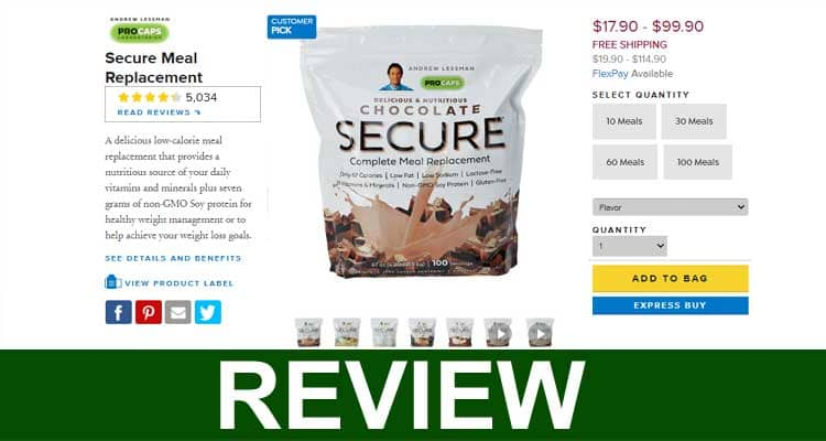Secure Meal Replacement Reviews 2021