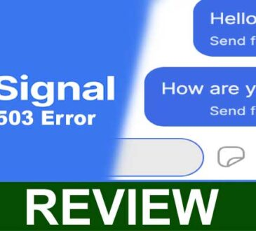 Signal 503 Error 2021