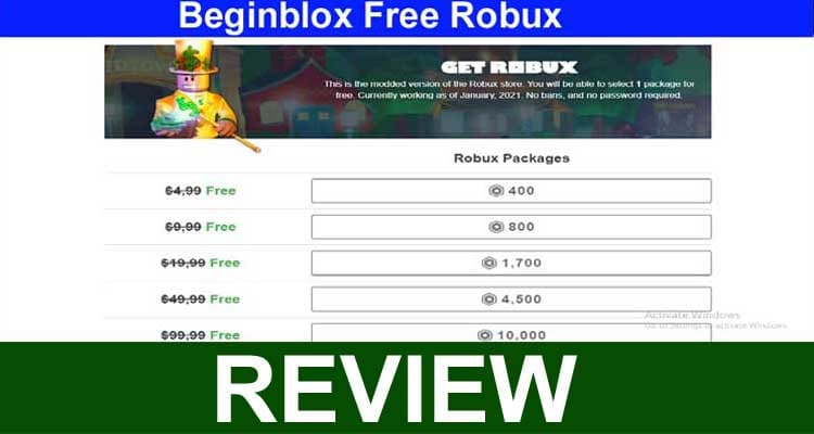 Beginblox Free Robux 2021