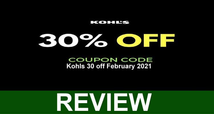Kohls 30 off February 2021
