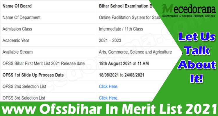 latest news Www Ofssbihar In Merit